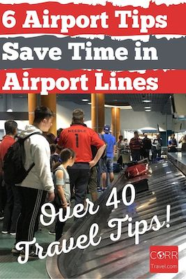 6 Tips to Save Time in Airport Lines Pinterest pin