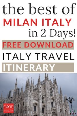 Milan Budget Guide and 2 Day Itinerary Pinterest pin