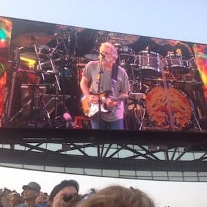Bob Weir on screen Fare Thee Well concert Chicago