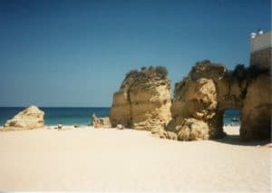 Lagos Portugal beach and Mediterranean Sea view