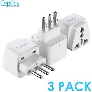 Ceptics Adapters Type L 3pk