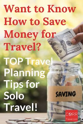 How to Save Money for Solo Travel Pinterest image