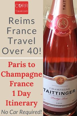 Paris to Reims Champagne Travel Itinerary-Over 40 Pinterest image