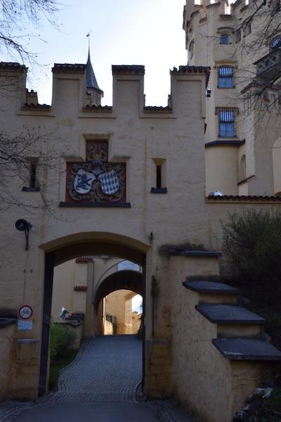 Hohenschwangau castle entrance
