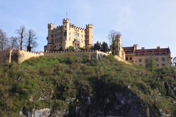 Hohenschwangau castle from bottom of hill