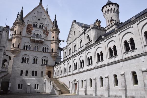 Neuschwanstein castle courtyard