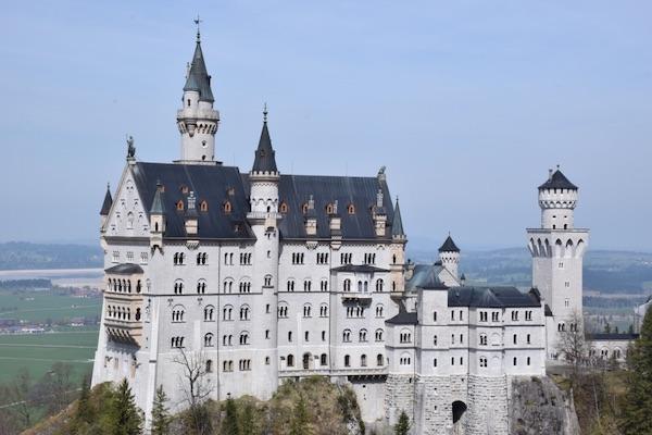 Neuschwanstein castle from Mary's Bridge