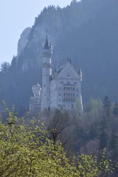 Neuschwanstein from bottom of hill