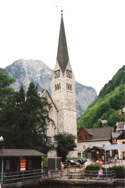 Clock Tower in Hallstatt Austria