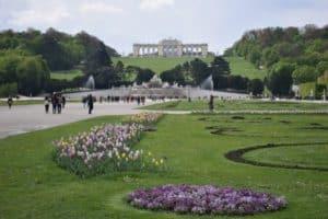 Gloriette & Schonbrunn Palace Gardens Vienna Austria