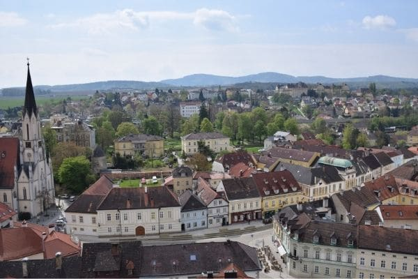 Overlooking Town of Melk Austria