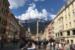 People in City Center Innsbruck Austria
