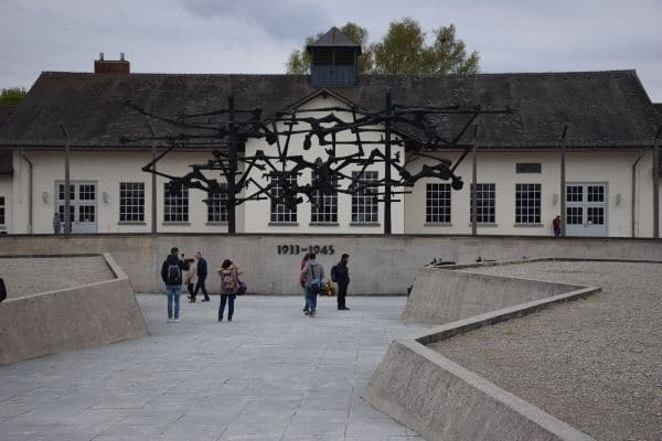 Tourists at Dachau Camp Germany
