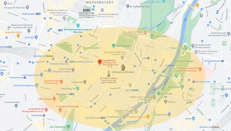 Where to Stay in Munich Map