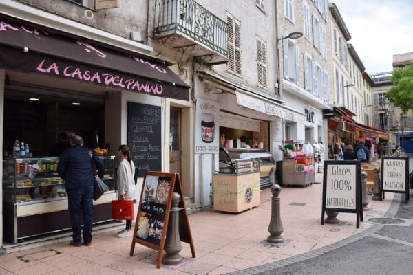 cafes and shops Antibes France