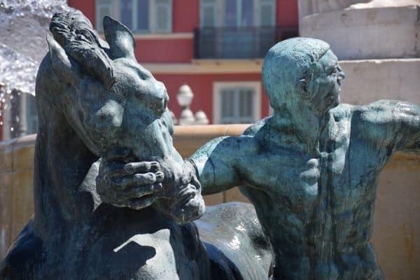 fountain statue Place Masséna Nice France