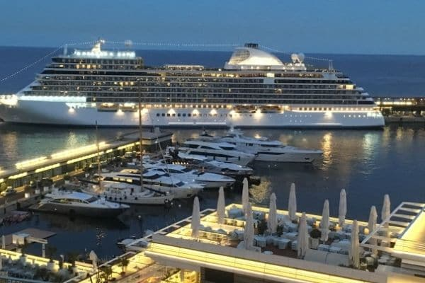 yachts in Monaco harbor