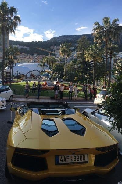 yellow Lamborghini Monaco