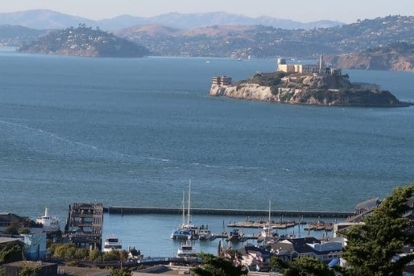 Alcatraz and Marin County from Coit Tower
