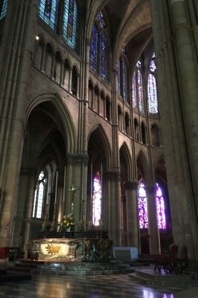 Altar inside Reims Cathedral