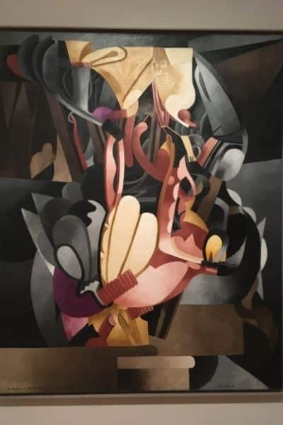 Artwork hung inside MOMA New York City