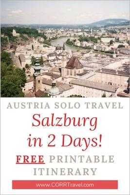Austria Solo Travel Salzburg in 2 Days Free Printable Itinerary
