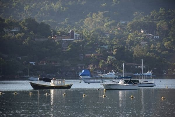 Boats on water Angra dos Reis Brazil