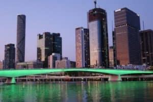 Brisbane Australia skyline at night