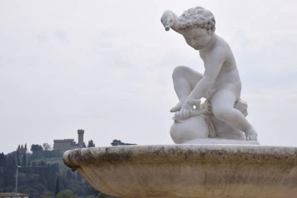 Cherub sculpture Florence Italy