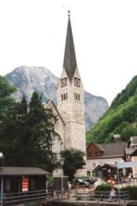 Clock tower Hallstatt Austria with Italy in 2 weeks