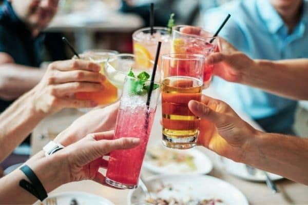 Drinks out can eat up saving money for travel