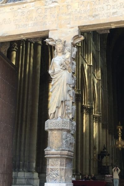 Entry to Reims Cathedral France Reims France