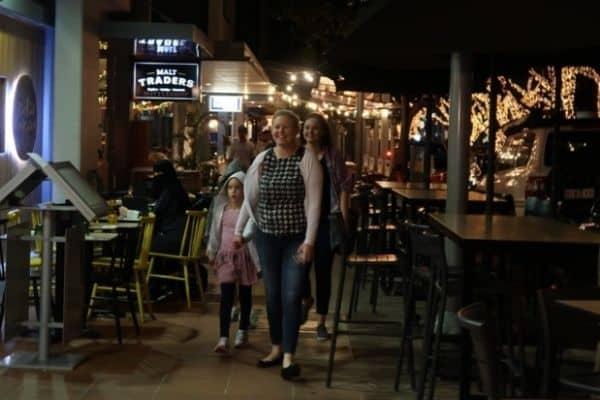 Family on Little Stanley Street Brisbane Australia