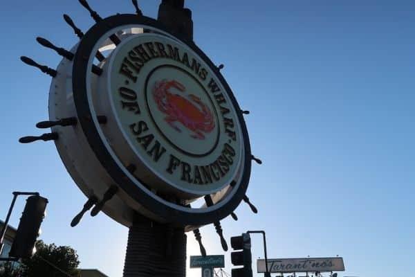 Fishermans Wharf sign San Francisco