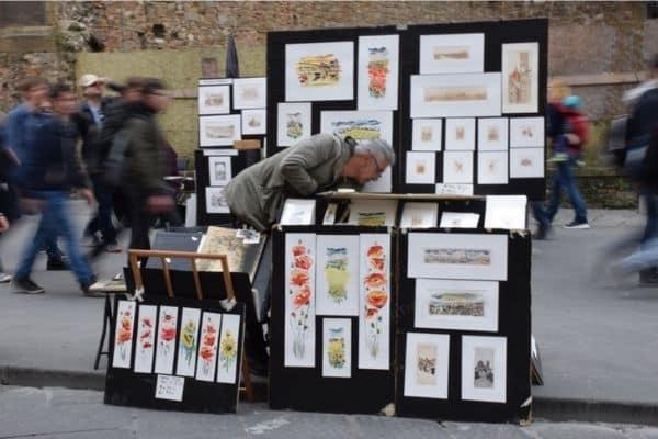 Florence Italy street art vendor