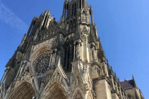 Front of Reims Cathedral France