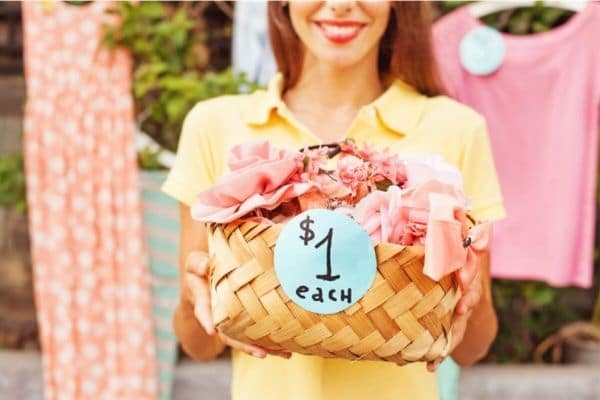 Girl selling home made products for money