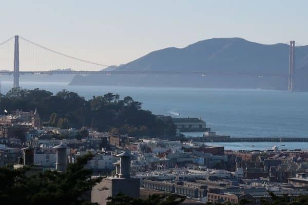 Golden Gate Bridge from Coit Tower