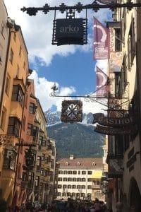 Innsbruck city center Austria
