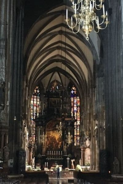 Inside St Stephens Cathedral Vienna Austria