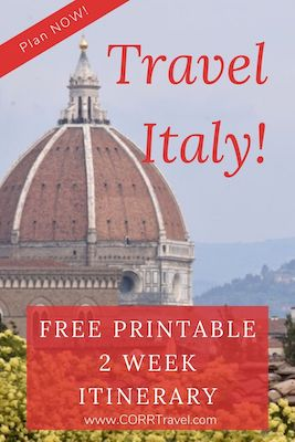 Italy 2 Week Travel Itinerary free printable