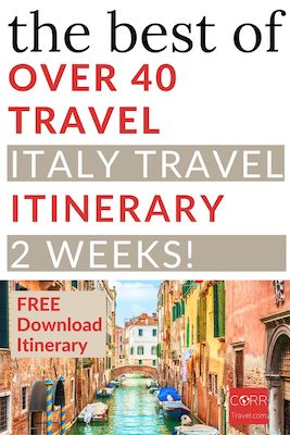 Italy 2 Week Travel Itinerary over 40