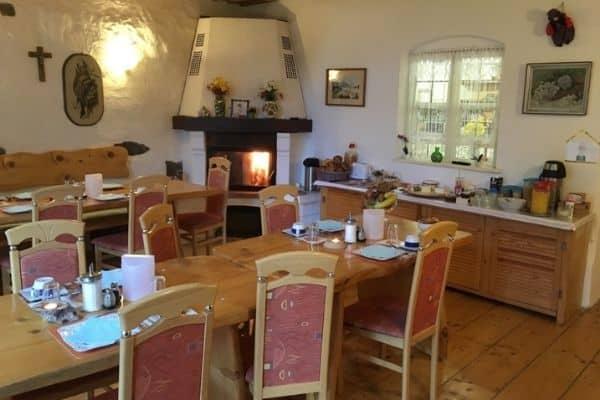 Maurushaus dining room Fussen Germany