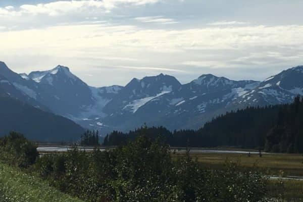 Mountains from Seward Highway Alaska