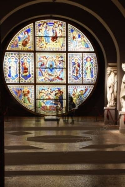 Museo dell'Opera Metropolitana stained glass Siena Italy