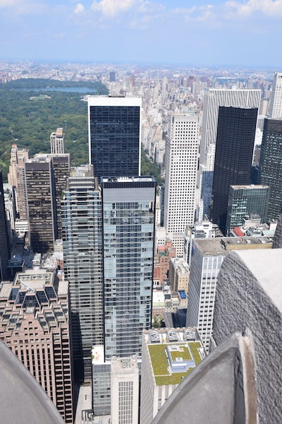 New York City skyline from Observation Deck
