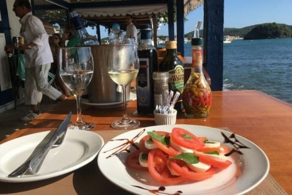 Outdoor dining for choosing first solo travel destination