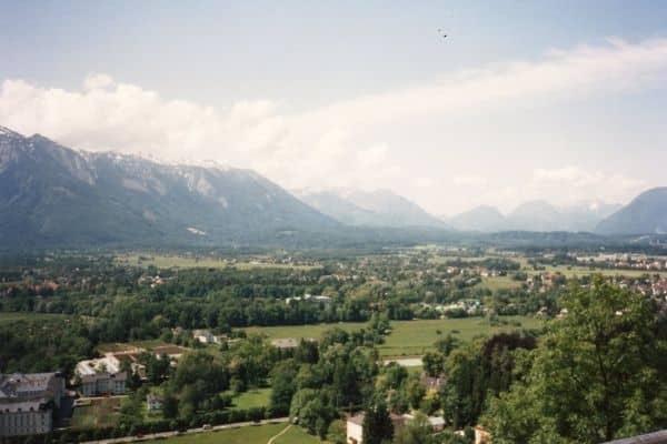 Overlooking Salzburg countryside & Austrian alps