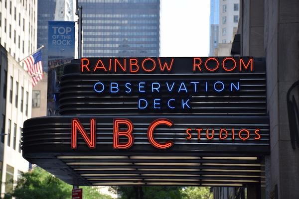Rainbow Room NBC Studios sign New York City
