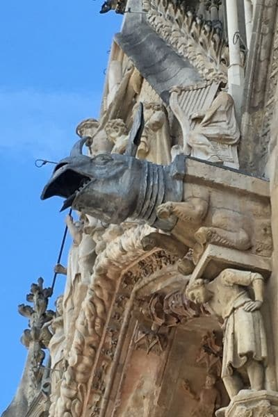 Reims Cathedral gargoyle